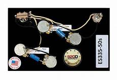 prewired es 335 wiring harness for gibson cts switchcraft pio reverb
