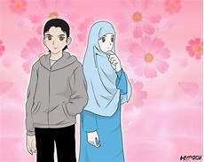 Gambar Kartun Muslim Dan Muslimah Romantis Banget Terbaru