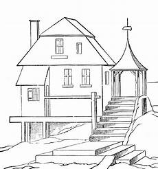 Ausmalbilder Haus Bauen Free Printable House Coloring Pages For With Images