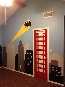 my sons new superhero room with batman light signal superhero room kids room batman room