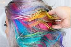 Colorful Hair Bright Rainbow Delicate Pastel Or Slightly