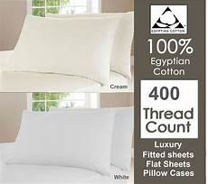 400 tc thread count 100 cotton fitted flat sheet single double king ebay