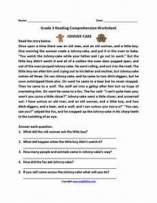 categorizing worksheets for 3rd grade 7930 johnny cake third grade reading worksheets third grade reading worksheets reading worksheets
