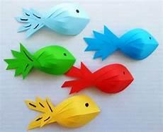 fische basteln mit kindern wenn sie kreative fische aus papier mit kindern basteln