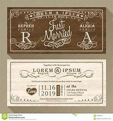 invitation card template vintage vintage wedding invitation border and frame template stock