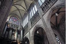 nave and organ of maclou church in rouen copyright