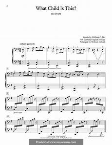 what child is this for piano by folklore sheet music musicaneo