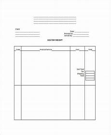 7 doctor receipt templates free sle exle format