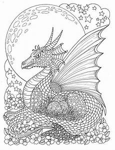 Ausmalbilder Drachen Erwachsene Themed Coloring Book Fairies Dragons Pixies