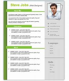 4 free download resume cv templates for microsoft word