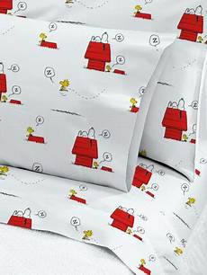 snoopy and woodstock cotton percale sheet set