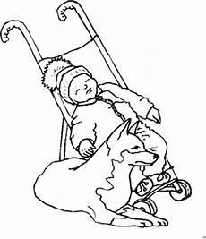 malvorlagen baby hund baby mit hund ausmalbild malvorlage kinder