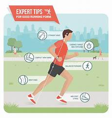 proper running form stock vector image 90416314