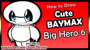 Cute Baymax – Big Hero 6 How To Draw Disney Cartoon