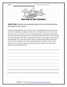 grammar redundancy worksheets 24955 using concise language worksheets