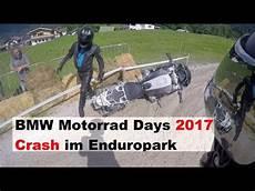 bmw motorrad days 2017 enduropark crash am wasserloch