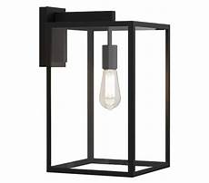 astro box lantern 450 exterior wall light textured black finish with clear glass 1354007 from