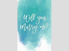 Will You Marry Me With Blanc de Bleu