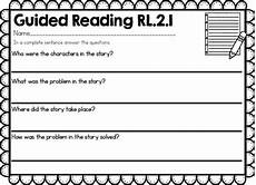 guided writing worksheets for grade 2 22815 guided reading worksheets 2nd grade by grassi tpt