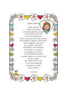 poesia per la festa della mamma con cornice didattica festa della mamma filastrocche festa