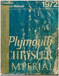 plymouth service repair manual download pdf used 1972 plymouth chrysler and imperial chassis service manual