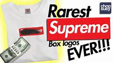 supreme box logo 5 rarest supreme box logos