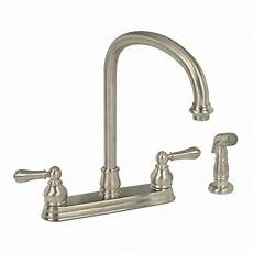kitchen faucets brushed nickel american standard hton 2 handle standard kitchen faucet with side sprayer in brushed nickel