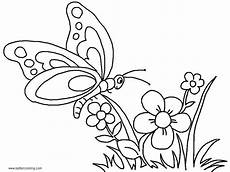 Malvorlage Schmetterling Blume Butterfly Coloring Pages With Flowers Free Printable