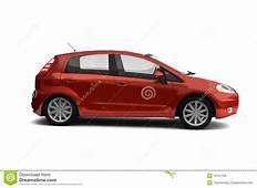 Hatchback Red Car Side View Stock Illustration