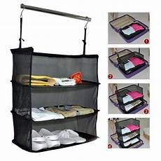 hanging clothes bag for traveling 3 layers portable travel storage bag hook hanging