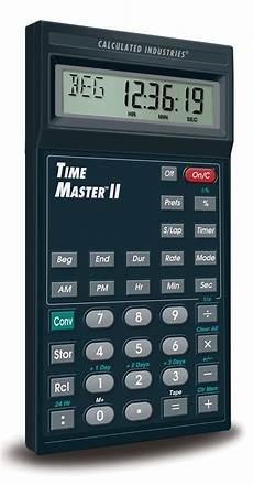 amazon com calculated industries 9130 timemaster ii home