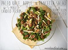 kale and apple salad with pancetta and candied pecans image