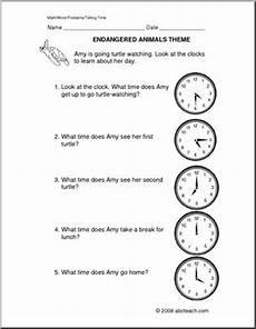 telling time worksheets word problems 3243 word problems telling time primary abcteach