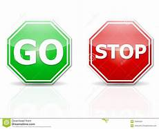 Stop And Go Stock Vector Illustration Of Highway Graphic