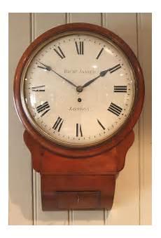 antiques atlas regency mahogany drop dial wall clock england c