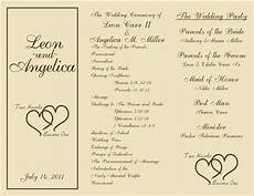 free printable wedding programs templates sle wedding ceremony programs projects to