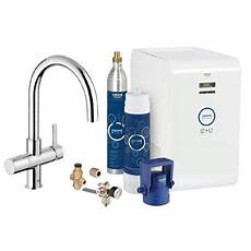 grohe blue chilled sparkling starter kit with c spout