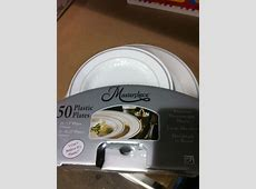 Costco   25 plastic dinner plates   25 dessert plates $14