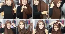Tutorial Jilbab Pashmina Cantik With Headband Kumpulan