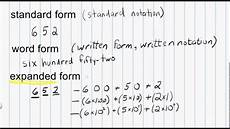 math expanded form math numeration standard form word form and expanded