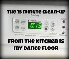the kitchen is my dance floor the 15 minute clean up plan