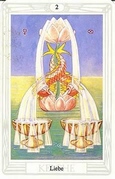 Tarot Karte Liebe - tarotkarte zwei der kelche liebe
