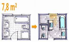 Badplanung Kleines Bad - badplanung beispiel 7 8 qm modernes komplettbad mit