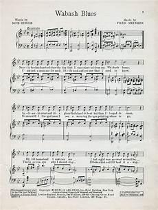 wabash blues 183 sheet music