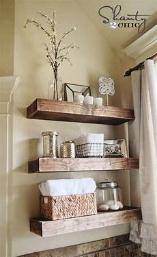 shelves in bathroom ideas easy diy floating shelves shanty 2 chic