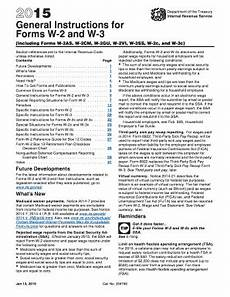 2015 form irs instruction w 2 w 3 fill online printable
