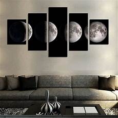 Living Room Home Decor Painting Ideas by 5 No Frame Moon Modern Home Wall Decor Canvas