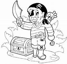 Piraten Malvorlagen Zum Ausmalen Kostenlose Malvorlage Piraten Pirat Mit Schatzkiste Zum
