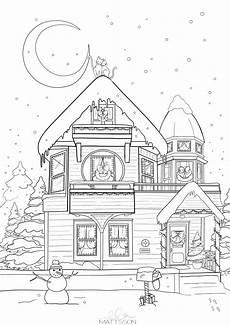 ausmalbilder weihnachten winter malvorlagen