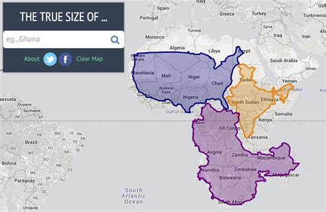 Real Size Of Countries